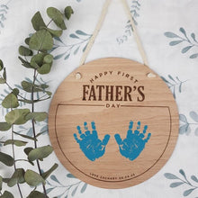 Load image into Gallery viewer, Custom Fathers Day Wooden Sign - Customised wording however you like it - Fathers Day kids gift - fathers day hand print - first fathers day Milestone Plaques, Milestone Plaques, new, persona