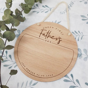 Custom Fathers Day Wooden Sign - Customised wording however you like it - Fathers Day kids gift - fathers day hand print - first fathers day Milestone Plaques, Milestone Plaques, new, persona