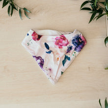 Load image into Gallery viewer, Floral Kiss - Dribble Bib Bandana Bibs Bibs, Bibs, bibs and dummies, new, snuggle bib floral-kiss-dribble-bib-bandana-bibsTwo Little Seedlings