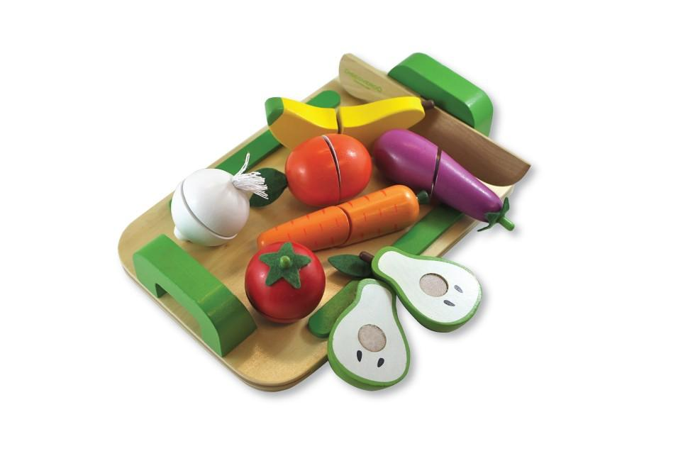 Fruit & Veg Cutting Set Wooden Toys, toys, wooden fruit-veg-cutting-setTwo Little Seedlings