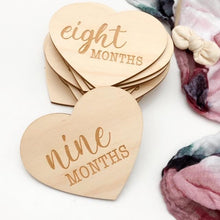 Load image into Gallery viewer, HEART Universal Baby / Pregnancy Milestones Plaques Milestone plaques, featured, Milestone Plaques heart-universal-baby-pregnancy-milestones-plaquesTwo Little Seedlings