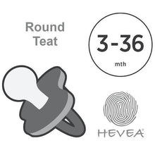 Load image into Gallery viewer, Hevea - Colour Pacifier - Round - Milky White - Size 3 to 36 months Hevea Dummy, dummy, new hevea-colour-pacifier-round-milky-white-size-3-to-36-monthsTwo Little Seedlings