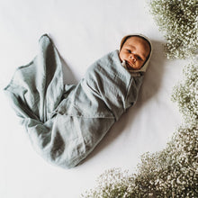 Load image into Gallery viewer, Icy Steel - The Essential Swaddle Range swaddle, Swaddle icy-steel-the-essential-swaddle-rangeTwo Little Seedlings