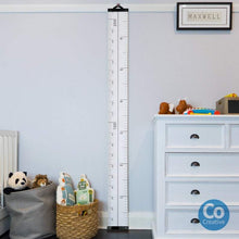Load image into Gallery viewer, Kids Growth Chart, Canvas Portable removable Height Growth Chart, Imperial & Metric Height Chart, Kids Ruler, Growth Chart, HIGH QUALITY Height Chart, new, personalised kids-growth-chart-canv