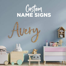 Load image into Gallery viewer, Name Plaque, Bedroom name sign wall art, bedroom door sign , custom name wall plaque, name wall art, name plaque for nursery, playroom wall Name Plaque, name plaques, name signs, personalised