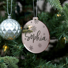 Load image into Gallery viewer, Personalised Christmas decoration, custom name bauble, Christmas ornaments, custom Christmas gift, Christmas tree decoration,first christmas Christmas Ornament, christmas, featured, new perso