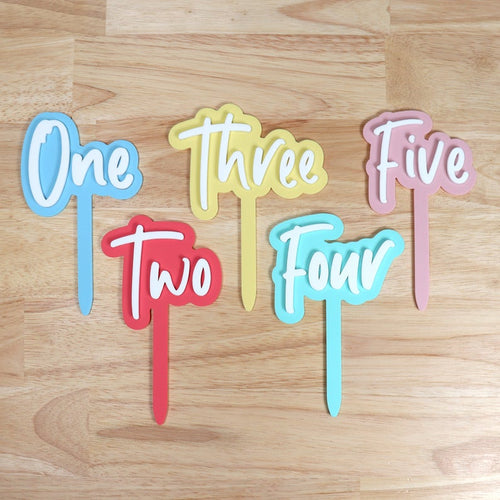Kid's Cake Topper, Birthday cake décor, fun pastel colours, Reusable cake topper, One Two Three Four Five Six Seven Eight Nine Ten Cake Topper, birthday, cake topper, featured, Milestone Pla
