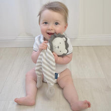 Load image into Gallery viewer, Knit Security Blanket- Austin the Lion Security Blanket, comforter, rattle, soft toy, teether knit-security-blanket-austin-the-lionTwo Little Seedlings