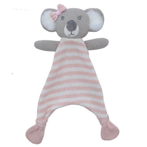 Knit Security Blanket- Chloe the Koala Security Blanket, comforter, rattle, soft toy, teether knit-security-blanket-chloe-the-koalaTwo Little Seedlings