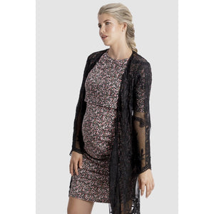 Lace Kimono in Black Maternity Dress, maternity, sale lace-kimono-in-blackTwo Little Seedlings