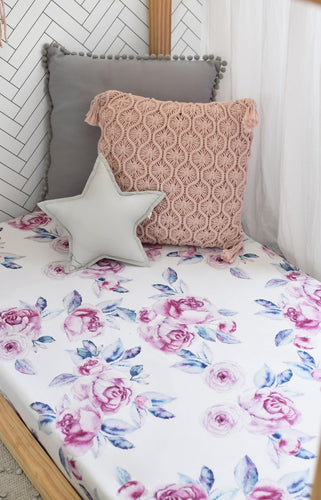 Lilac Skies I Fitted Cot Sheet Sheets, Bed Linen, new, nursery linen lilac-skies-i-fitted-cot-sheetTwo Little Seedlings