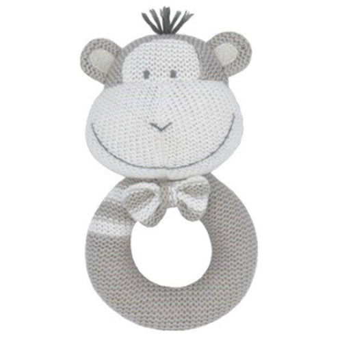 Knitted Rattle- Max the Monkey Knitted Rattle, rattle, teether knitted-rattle-max-the-monkeyTwo Little Seedlings