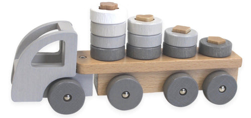 Mini Sort N' Stack Truck Wooden Toys, toys, wooden mini-sort-n-stack-truckTwo Little Seedlings