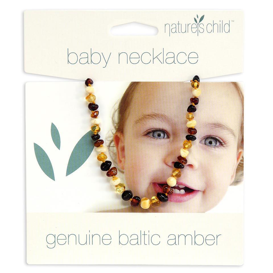 NATURE'S CHILD AMBER NECKLACE - COLOUR: MIXED Teething Necklace, teether natures-child-amber-necklace-colour-mixedTwo Little Seedlings