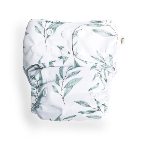 Olive Leaf Modern Cloth Nappy - EcoNaps Convertable Cloth Nappies, Modern Cloth Nappies convertible-cloth-nappy-econaps-olive-leaf-sold-outTwo Little Seedlings