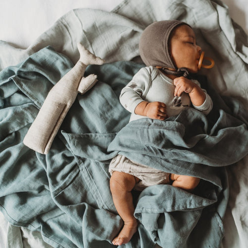 Pewter Blue - The Essential Swaddle Range swaddle, Swaddle pewter-blue-the-essential-swaddle-rangeTwo Little Seedlings