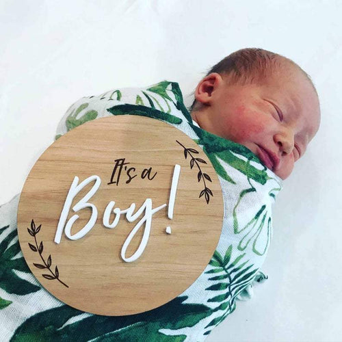 Pregnancy/Birth Announcement - It's a Boy Milestone Plaques, Milestone Plaques pregnancy-announcement-its-a-boyTwo Little Seedlings