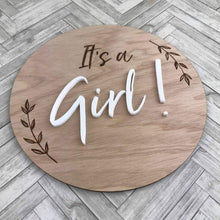 Load image into Gallery viewer, Pregnancy/Birth Announcement - It's a Girl Milestone Plaques, Milestone Plaques pregnancy-birth-announcement-its-a-girlTwo Little Seedlings