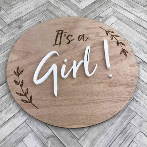 Pregnancy/Birth Announcement - It's a Girl Milestone Plaques, Milestone Plaques pregnancy-birth-announcement-its-a-girlTwo Little Seedlings
