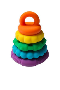 Rainbow Stacker & Teether Toy- Rainbow Rainbow teether & stacker, rainbow, stacker, teether rainbow-stacker-teether-toy-rainbowTwo Little Seedlings