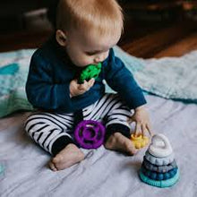 Load image into Gallery viewer, Rainbow Stacker & Teether Toy- Rainbow Rainbow teether & stacker, rainbow, stacker, teether rainbow-stacker-teether-toy-rainbowTwo Little Seedlings