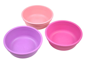 Re-Play Bowls 3 Pack - Purple / Bright Pink / Baby Pink Bowls, bowls, Meal time, new, replay, silicone bowls re-play-bowls-3-pack-purple-bright-pink-baby-pinkTwo Little Seedlings