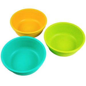 Re-Play Bowls 3 Pack WITH Retail Packaging - Aqua / Green / Sunny Yellow Bowls, bowls, Meal time, new, replay, silicone bowls re-play-bowls-3-pack-with-retail-packaging-aqua-green-sunny-yello