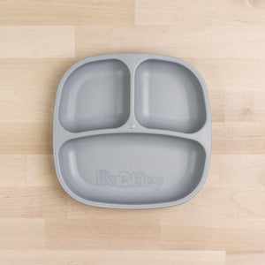 Re-Play Divided Plate - Grey Plates, bowls, Meal time, new, plates, replay, silicone bowls re-play-divided-plate-greyTwo Little Seedlings