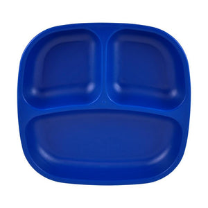 Re-Play Divided Plate - Navy Blue Plates, bowls, Meal time, new, plates, replay, silicone bowls re-play-divided-plate-navy-blueTwo Little Seedlings