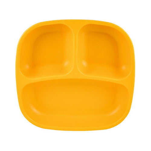 Re-Play Divided Plate - Sunny Yellow Plates, bowls, Meal time, new, plates, replay, silicone bowls re-play-divided-plate-sunny-yellowTwo Little Seedlings