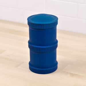 Re-Play Snack Stack (2 Pods and 1 Lid) - Navy Blue Snack Stack, bowls, Meal time, new, plates, replay, silicone bowls re-play-snack-stack-2-pods-and-1-lid-navy-blueTwo Little Seedlings