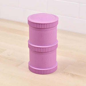 Re-Play Snack Stack (2 Pods and 1 Lid) - Purple Snack Stack, bowls, Meal time, new, plates, replay, silicone bowls re-play-snack-stack-2-pods-and-1-lid-purpleTwo Little Seedlings
