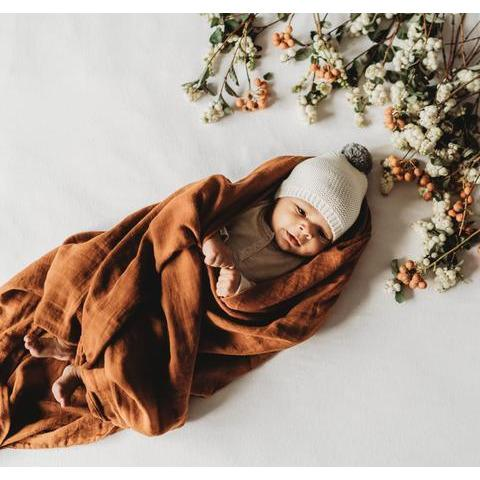 Rust - The Essential Swaddle Range Swaddle, Swaddle rust-the-essential-swaddle-rangeTwo Little Seedlings