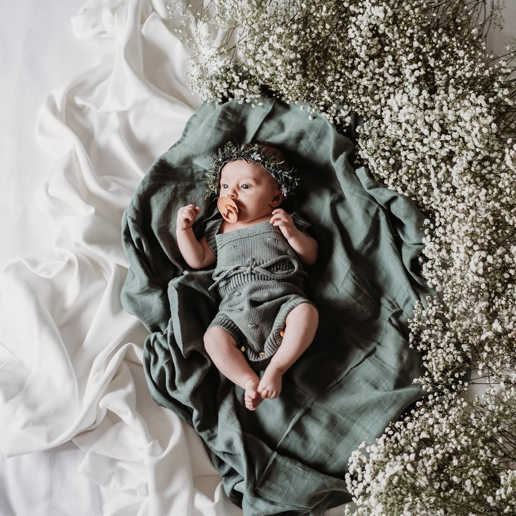 Soft Moss - The Essential Swaddle Range swaddle, Swaddle soft-moss-the-essential-swaddle-rangeTwo Little Seedlings