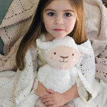 Load image into Gallery viewer, Stuffed Animals | Soft Plush Toys Australia | White Lamb - Lee Lamb Huggie O.B Teddy's and Comforters, bunny, new, soft toy stuffed-animals-soft-plush-toys-australia-white-lamb-lee-lamb-huggi