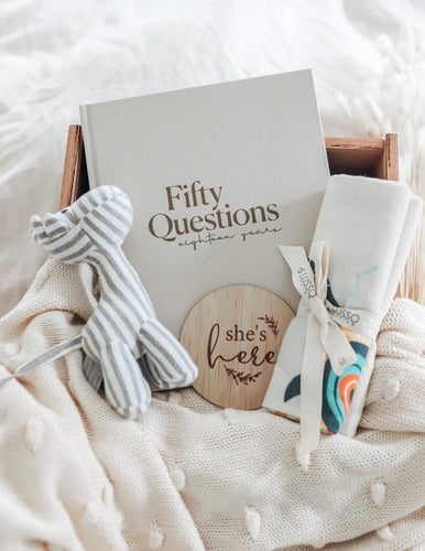 TINY LITTLE DREAMER - 50 Questions 18 Years Book Baby Journal, Baby Journal, featured, new pre-order-tiny-little-dreamer-50-questions-18-years-bookTwo Little Seedlings