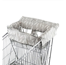 Load image into Gallery viewer, Trolley Liner - Grey Feathers Fits single + double sized trolleys Trolley Liner, featured, new, trolley liner trolley-liner-grey-feathers-fits-single-double-sized-trolleysTwo Little Seedlings