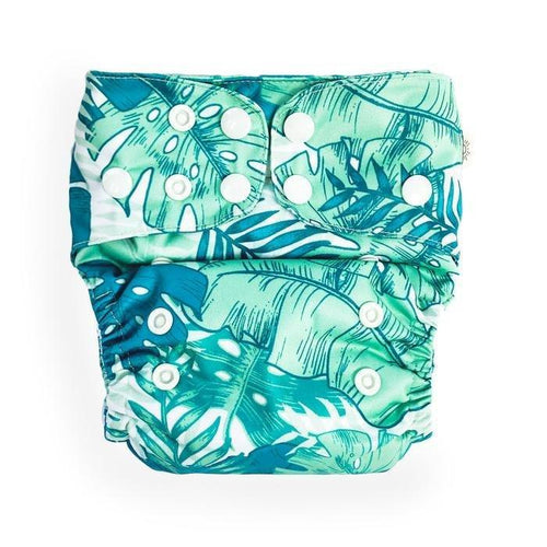 Tropical Palms Modern Cloth Nappy - EcoNaps (Pre-Order) Convertable Cloth Nappies, Modern Cloth Nappies convertible-cloth-nappy-econaps-tropical-palms-sold-outTwo Little Seedlings