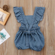 Load image into Gallery viewer, Denim Romper/Jumpsuit Romper, Baby Clothing, clothing, Lace Romper, new, Romper denim-romper-jumpsuitTwo Little Seedlings