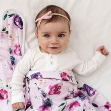 Load image into Gallery viewer, Velvet Petite Bow Baby- Rose Pink Headband, featured, headband, new velvet-petite-bow-baby-rose-pink-rose-pink-velvet-bowTwo Little Seedlings