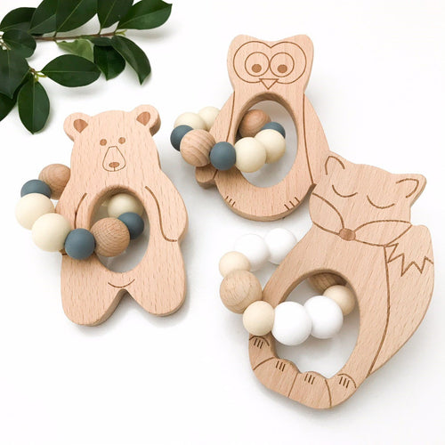 Woodland FOX Teether- Natural White teether, chew, teether woodland-fox-teether-natural-whiteTwo Little Seedlings