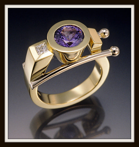 """ENIGMA"" Tanzanite & Diamond Ring"