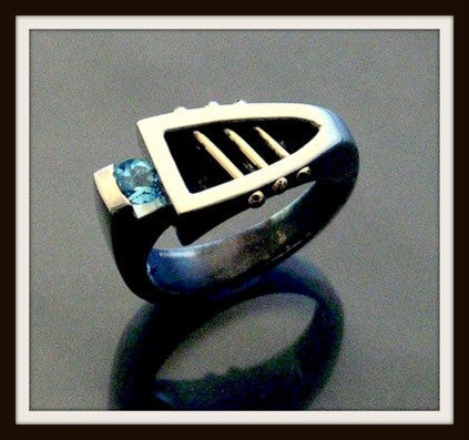 """BOAT"" Sterling Silver & Gold Ring"