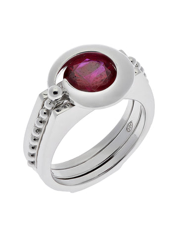 """CRESCENT"" Interchangeable Stone Ring"