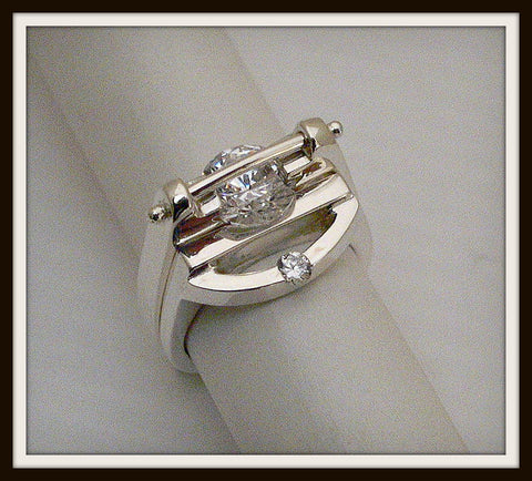 """OMEGA"" with Half Moon Stackable Band"
