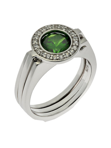 """HALO"" Interchangeable Stone Ring"