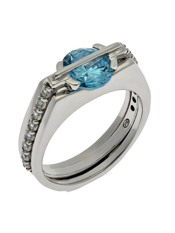 """MAJESTIC SPARKLE"" Interchangeable Stone Ring"