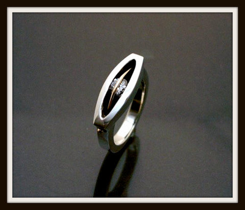 """MYSTIC"" Sterling Silver & Gold Ring"