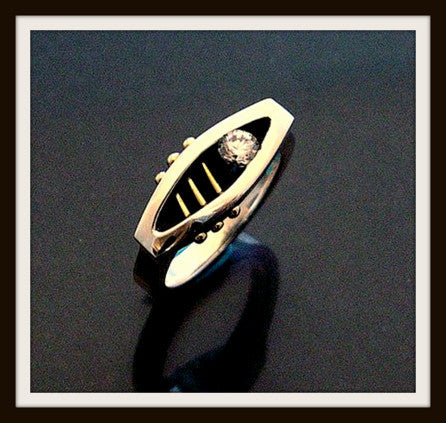 """INFINITE"" Sterling Silver & Gold Ring"