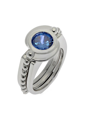 """YING YANG"" Interchangeable Stone Ring"